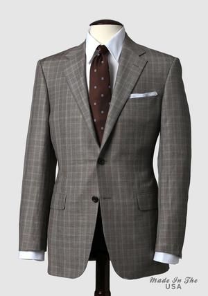 mahogany collection brown glen plaid sportcoat